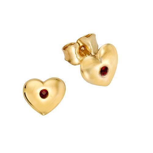 Ohrstecker 333/- Gelbgold Kristall rot Kristall Ohrstecker für Kinder gelb Mädchen Kinder