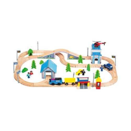 Holz-Eisenbahn, 80tlg.