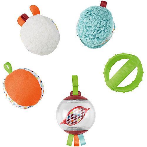Fisher-Price Fünf Sinne Bälle, Baby-Spielzeug, Baby Ball, Rassel, Sensorik-Spielzeug