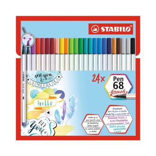Premium-Filzstifte Pen 68 brush, , 24 Stifte - 19 Farben