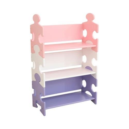 Bücherregal Puzzle - Pastell rosa