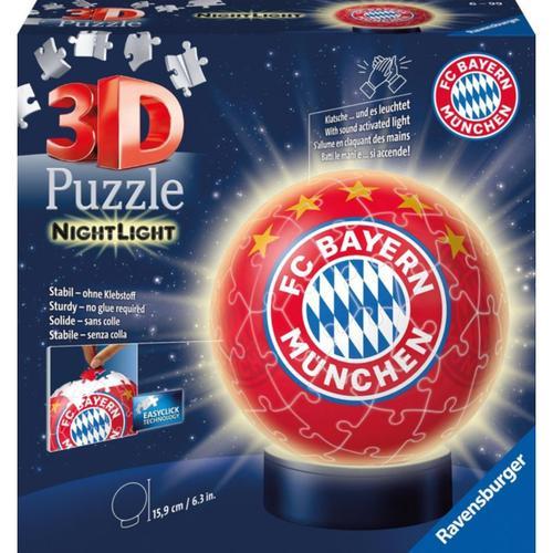 2in1 Nachtlicht & puzzleball® Ø13 cm, 72 Teile , FC Bayern München