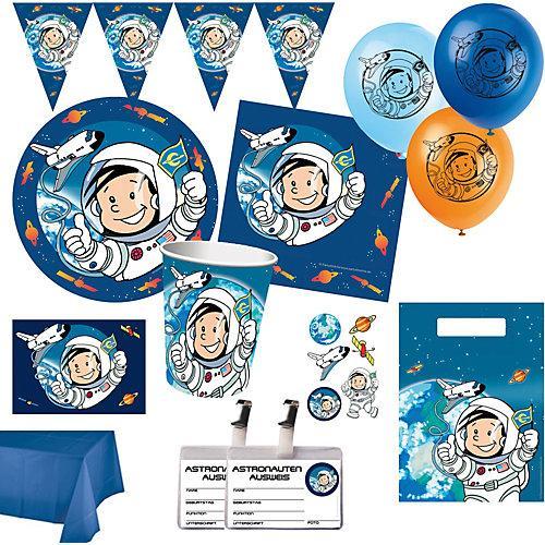 XXL-Partyset Astronaut, 78-tlg.