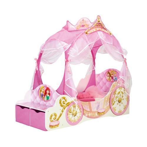 Kinderbett Disney Princess Kutsche, 70 x 140 cm rosa