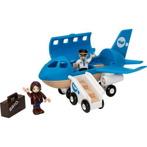Blaues Flugzeug