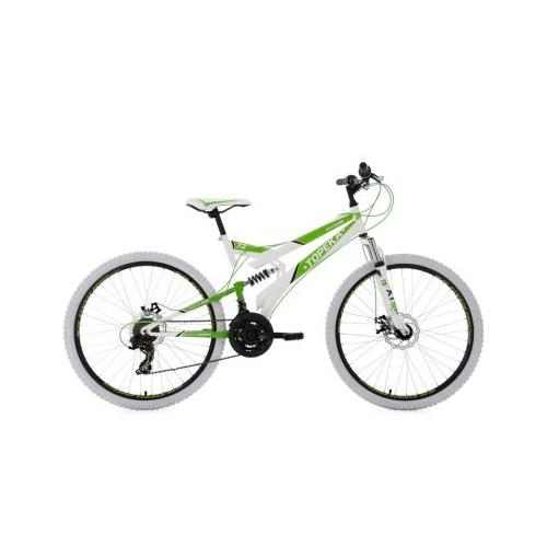 26 Fully Mountainbike 21 Gänge Topeka Mountainbikes, Rahmenhöhe: grün/weiß