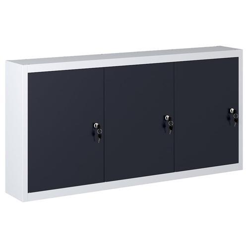 vidaXL Wand-Werkzeugschrank Industriedesign Metall Grau und Schwarz