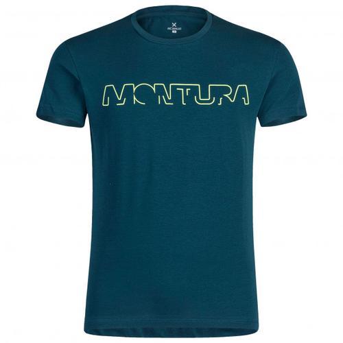 Montura - Brand - T-Shirt Gr M blau