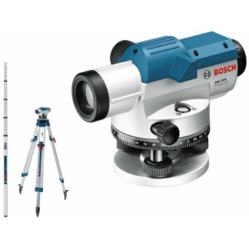 Optisches Nivelliergerät GOL 32 D / Baustativ / Messlatte