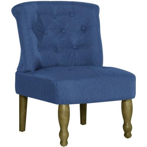 Vidaxl - Französischer Stuhl Stoff Blau