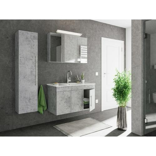 Badmöbel-Set Venezia 100 cm (3-teilig) Beton