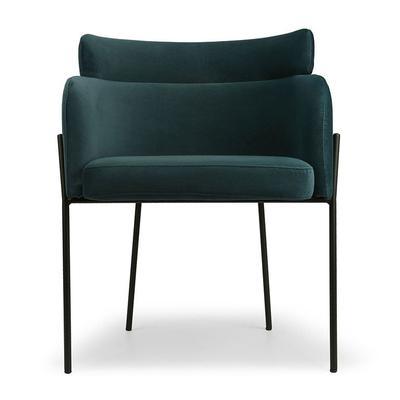 Design Stuhl - Tiefseeblauer Sam...