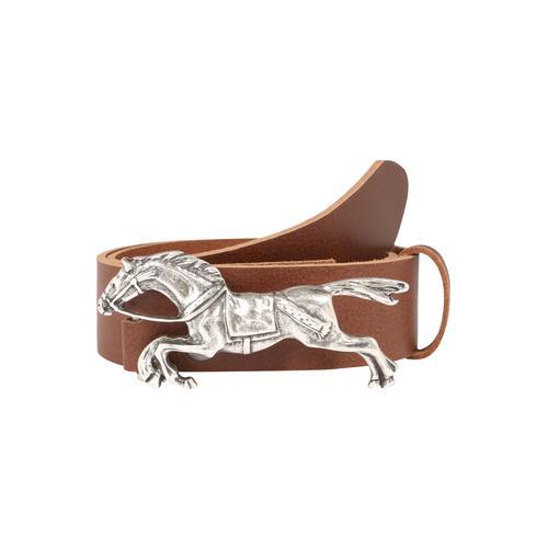 RETTUNGSRING by showroom 019° Ledergürtel, mit schöner Pferdemotivschnalle braun Damen Ledergürtel Gürtel Accessoires