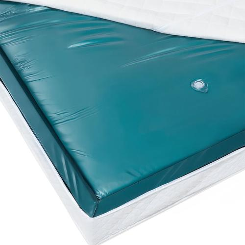 Beliani - Wasserbettmatratze Blau Vinyl 180 x 200 cm Mono System Unberuhigt Soft Side ein Wasserkern