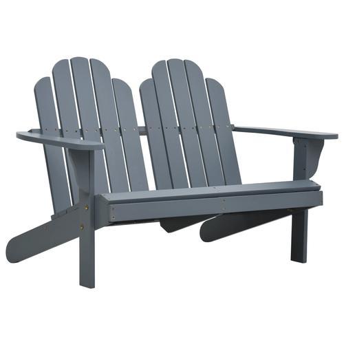 vidaXL Doppelter Adirondack-Stuhl Holz Grau