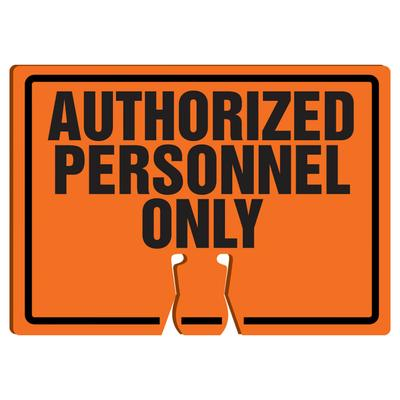 """Accuform Signs FBC764 Warning Sign for Traffic Cone – """"Authorized Personnel Only"""", 10″ x 14″, Plastic"""