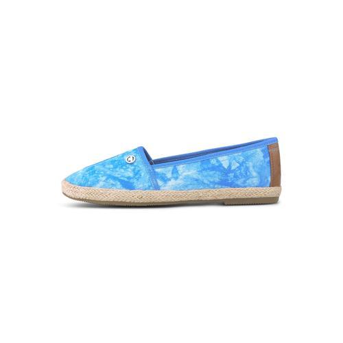 TOM TAILOR Damen Batik Stoffslipper, blau, Gr.40