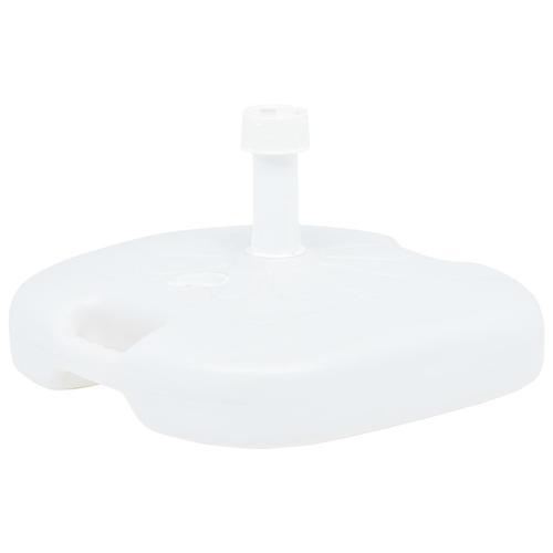 vidaXL Sonnenschirmständer Sand/Wasser 16 L Weiß Kunststoff