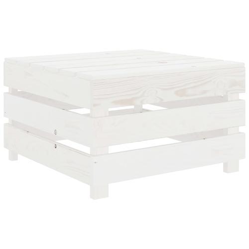 vidaXL Garten-Palettentisch Weiß Holz