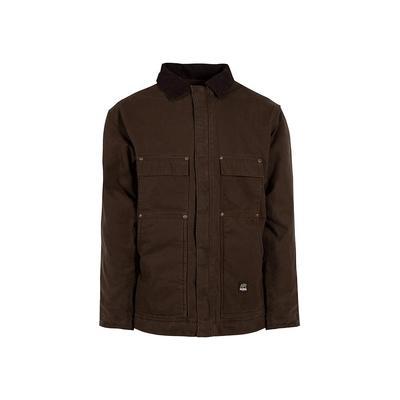 Berne Men's Extra Large Tall Bark 100% Cotton Original Washed Chore Coat, Brown