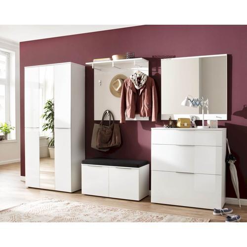 Maja Möbel TREND Schuhbank »2560« weiß matt - Weißglas