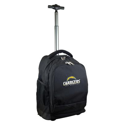 Denco NFL Los Angeles Chargers 19 in. Black Wheeled Premium Backpack