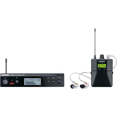 Shure Psm 300 Wireless Personal Monitoring System With Se215-Cl Earphones Band G20 Clear