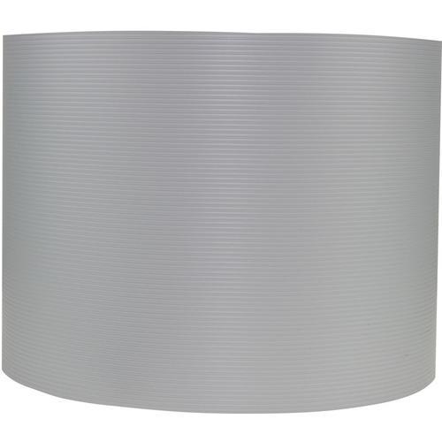 Sichtschutzstreifen aus formstabilem PVC in hellgrau - 10 Streifen