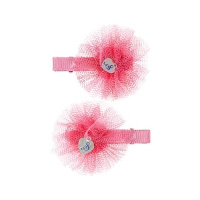 Souza - Coral Pink Hair Clips Fabienne with Flowers