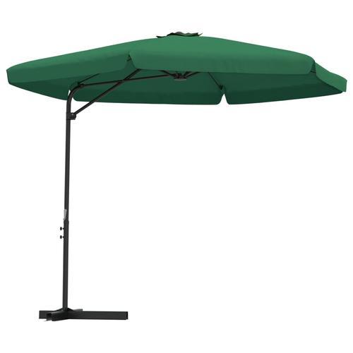 vidaXL Sonnenschirm mit Stahl-Mast 300 cm Grün