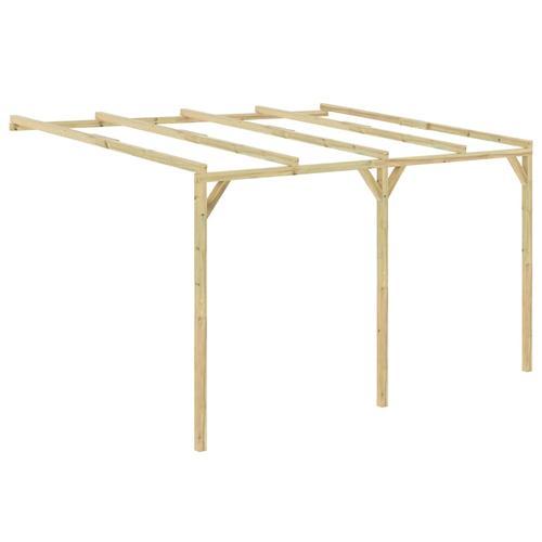 vidaXL Anlehn-Pergola 4 x 3 x 2,1 m Holz