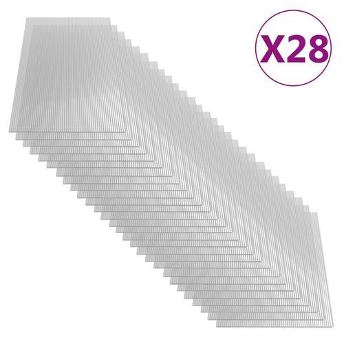 vidaXL Polycarbonatplatten 28 Stk. 4 mm 121 x 60 cm