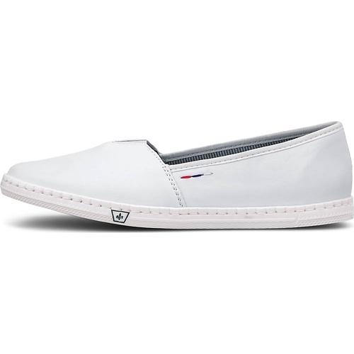 Rieker, Sommer-Slipper in weiß, Slipper für Damen Gr. 40