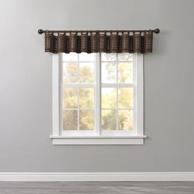 Bamboo Tab-Top Valance by BrylaneHome in Mahogany Brown