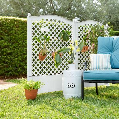 Trellis Fence, Set of 2 by BrylaneHome in White