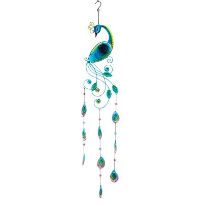 Peacock Wind Chime by BrylaneHome in Multi