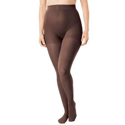 Plus Size Women's 2-Pack Smoothing Tights by Comfort Choice in Dark Coffee (Size E/F)