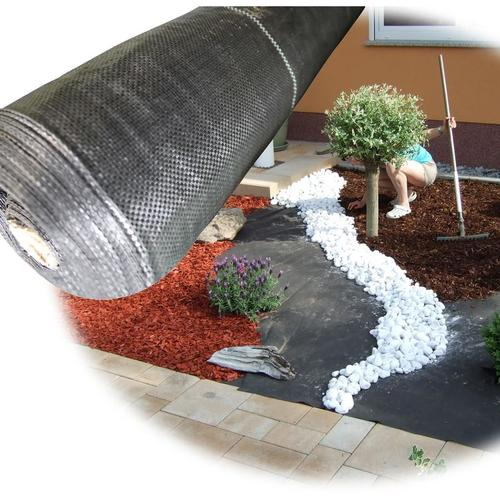 Unkrautgewebe Unkrautschutz 100g/m² Größe 1,5m x 50m