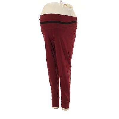 Summer and Sage Leggings: Red Solid Bottoms - Size Small Maternity