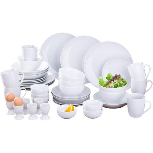 Retsch Arzberg Kombiservice Simply White Rund, (42 tlg.) weiß Geschirr-Sets Geschirr, Porzellan Tischaccessoires Haushaltswaren