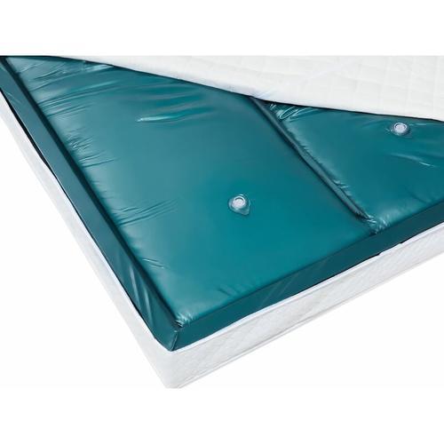 Beliani - Doppelte Wasserbettmatratze Blau Vinyl 180 x 200 cm Dual System zwei Wasserkerne mit