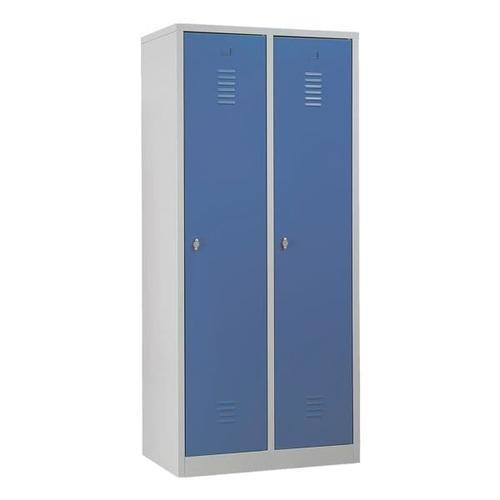 Garderobenschrank 80 x 180 cm Vorhängeschloss grau, Gürkan, 80x180x50 cm