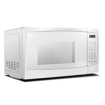"""Danby DBMW0720BWW 17 5/16""""W Countertop Microwave w/ 10 Power Levels - 700 watts, White"""