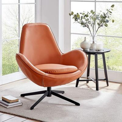 Meriden Furniture - Cherry Tree Furniture Brampton Terracotta Colour Swivel Armchair