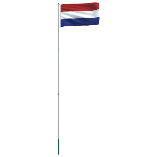 vidaXL Niederländische Flagge und Mast Aluminium 6 m