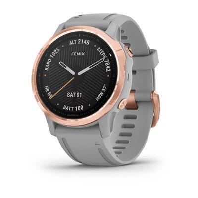 Garmin fenix 6s Pro Sapphire GPS Watch GPS Watches Rose Gold-tone with Powder Gray Band