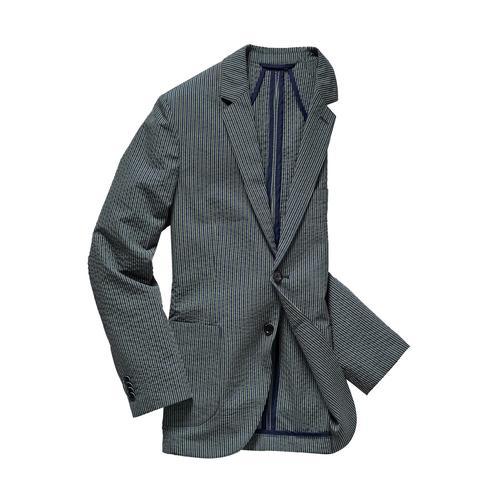 Mey & Edlich Herren Jacket Slim Fit Blau steigendes Revers
