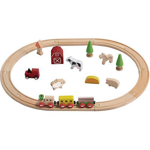 Holz-Eisenbahn-Set Bauernhof