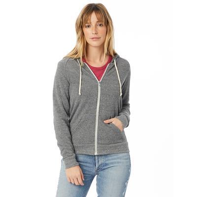 Alternative 09573F2 Women's Adrian Eco-Fleece Hoodie in Eco Grey size 2XL 9573