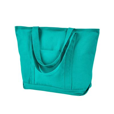 Liberty Bags 8879 Men's Seaside Cotton Pigment-Dyed XL Boat Tote Bag in Seafoam Green | Canvas